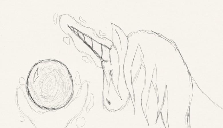 Unicorn With Crystal Ball