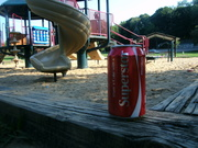 Lots of cans left at the playground