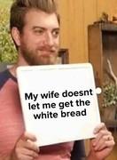 The white bread