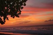un soir aur la plage où viennent nidifier les tortues
