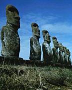 Easter Island, 7 Moai ( Close Up )