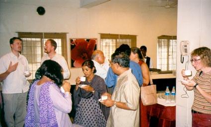 Chennai workshop participants during a tea break