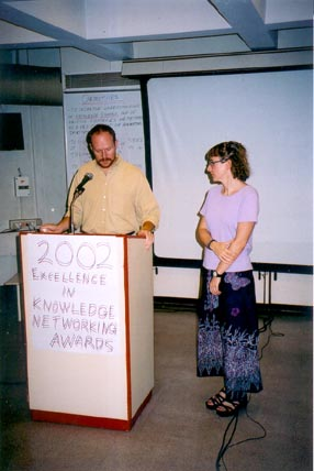 The 2002 Excellence in Knowledge Networking Awards ceremony