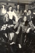 Janis Joplin with Sam Andrew Houston III, founding member of Big Brother and the Holding Company on the white guitar!