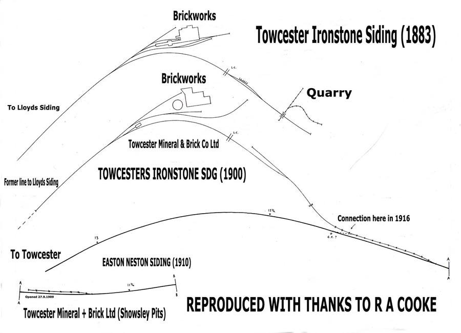 Easton Neston quarry plans 1883