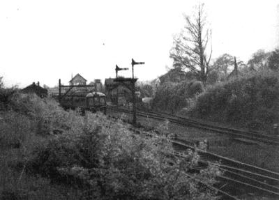 Towcester Station. WR Derby DMU on SLS Railtour 1960