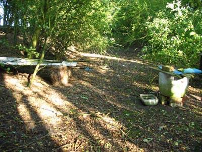 Track bed looking east towards Stoke Bruerne