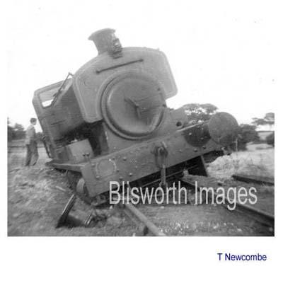 Derailed ironstone loco at Blisworth