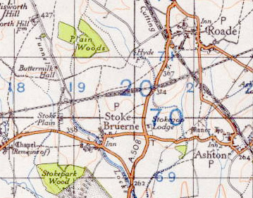 Stoke Bruerne & Roade ( SMJ station was just west of the minor road north of where map is marked Stoke Plain)