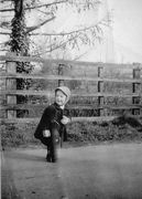 Young Visitor to Blakesley station - 1940s