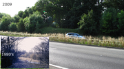 A43 overbridge 150 location near Towcester and Easton Neston