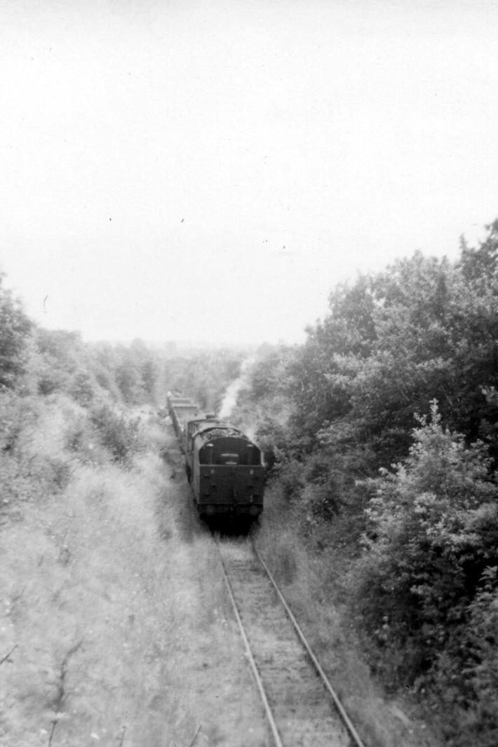 SMJ track recovery train near Roade 29 7 1964