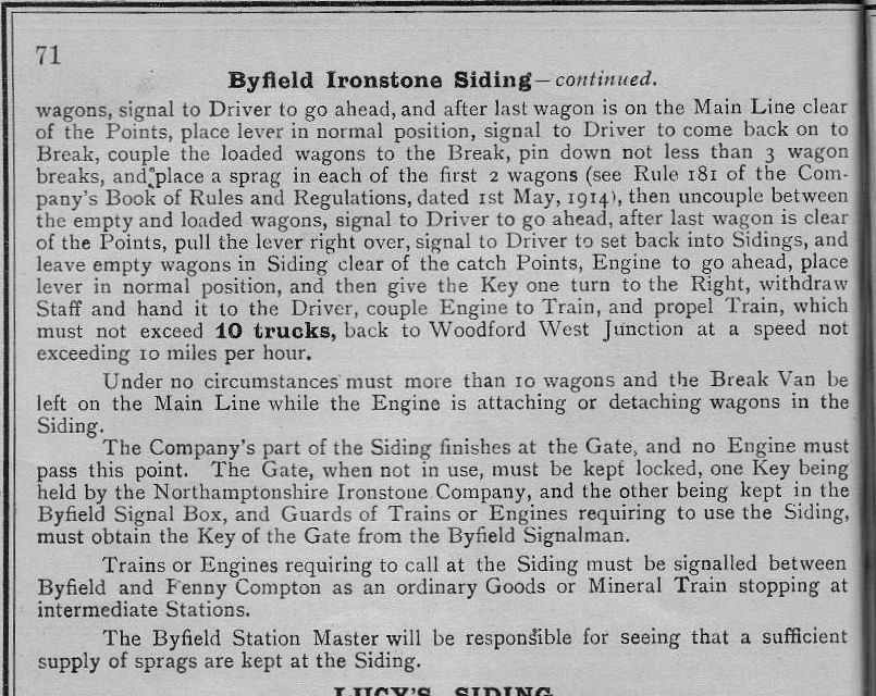 Byfield Ironstone Siding ( from 1916 appendix) Part 2