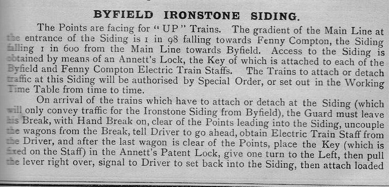 Byfield Ironstone Siding ( from 1916 appendix)
