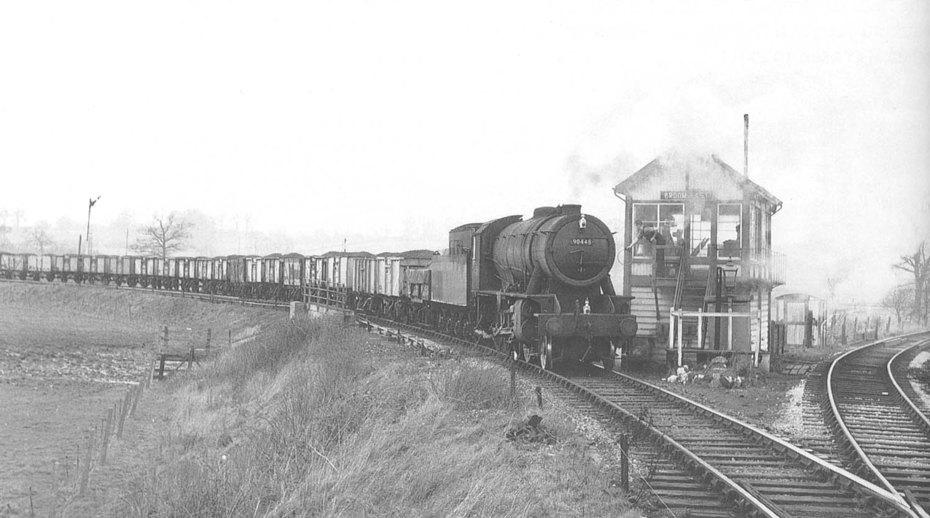 Ex-WD 'Austerity' 2-8-0 No 90448 at Broom East Signal Box