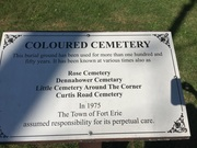 Coloured Cemetary Marker