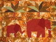 Detail: elephant wall hanging