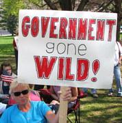 4-15-10 Lansing Michigan Tea Party rally 9