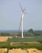 Wind turbines, Mason County Michigan