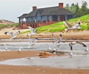 Ludington state park beach house. Michigan