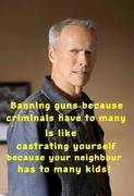 Clint Eastwood on guns
