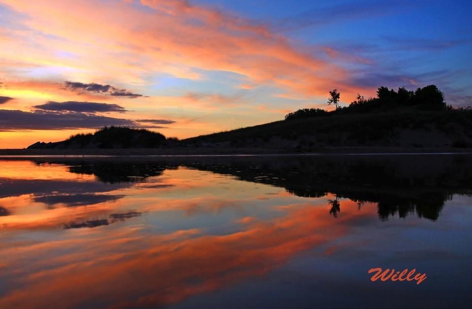 Michigan's Ludington State Park -  Sunset at Big Sable Outlet