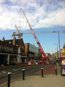 Huge crane doing stuff at the new cinema