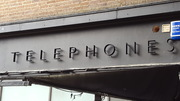 But the Telephones lettering is back