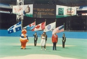 Singing National Anthems for Montreal Expos game.