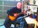 Jim writing lead sheet for a song