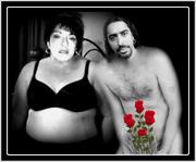 La Rosy con su novio El Cigala.