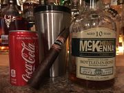Yeah I'm mixing my whiskey, it's damn hot out! Great Cigar!