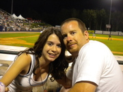 At  baseball game with my oldest, Jenna