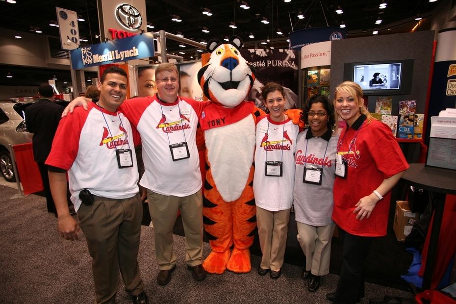 Job Fair - Nestle Purina Recruitment Team & Booth - National Career Fair  (NSHMBA). - STL Cardinals  World Series Champions 2006