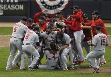Cardinals Win NLCS 2011 - Team Effort