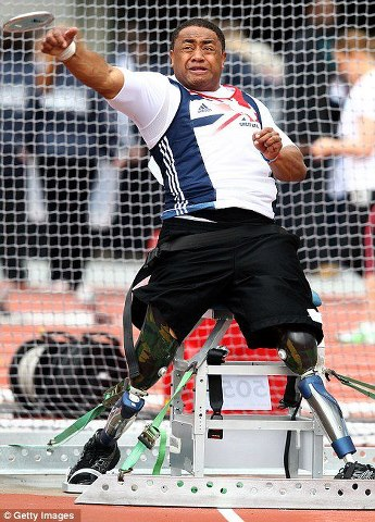 It Is Not Always About Winning - It Is Always About Showing Up To Compete ---- Derek Derenalagi Throwing a Discus