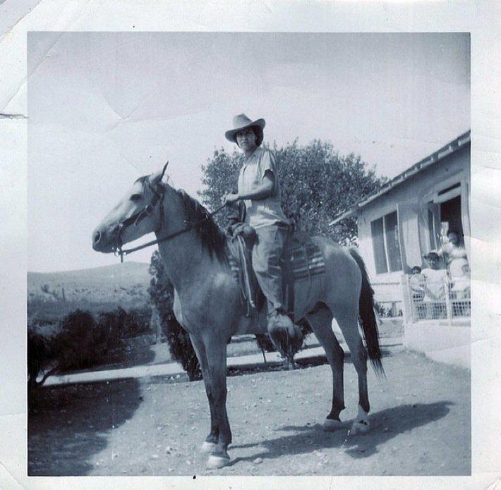 My Mom on Horseback...Happy Mother's Day