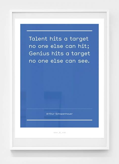 Aspire to:  Great Talent Hits A Target No One Else Can Hit -- But Genius Hits A Target No One Else Can See