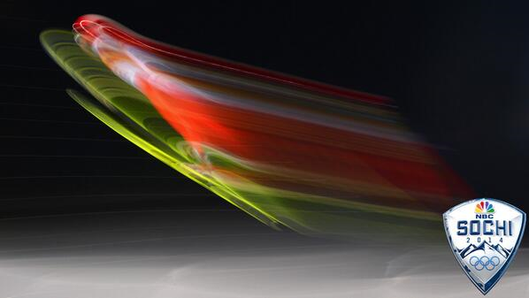 Sochi Olympics In Motion - Swiss ski-jumper Simon Ammann leaves the ramp during individual qualification on Saturday