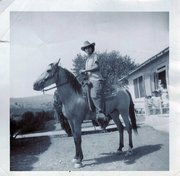 Happy Mother's Day Thought -- Tall in the Saddle and TALL In Our Lives...My Mom on Horseback...circa 1940s