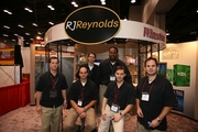 RJ Reynolds National Recruitment Team and Booth -- Oops, they forgot to bring their female recruiters, interns and hiring managers...or did they..?