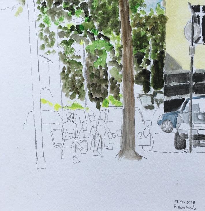 Eierplätzchen-Blick auf die Titus Strasse