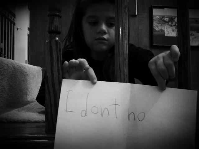 I don't no
