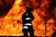 Me in front of training fire at CERTC