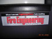 Halton's FE Bumper sticker