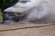 Car fire in rural area