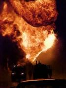 Car vs Tanker Fire