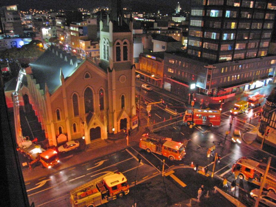 church arson Wellington