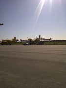 The planes in the NWT ready for action......