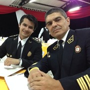 With Jaime Palacios, firefighter from Perú.
